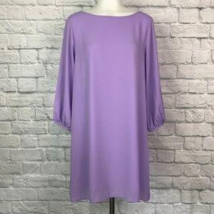 Coveted Clothing Medium Shift Dress Lilac Bow Back